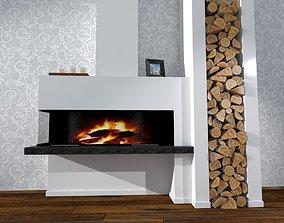 Modern Fireplace Design 3D model