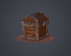 Treasure Chest 3D asset animated game-ready