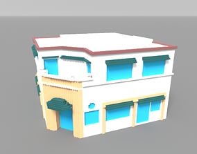 3D asset Voxel Miami Hotel 10