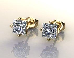 3D printable model Princess Diamond Stone Earring
