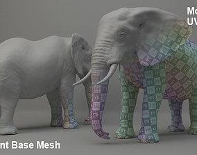 3D Elephant Base Mesh