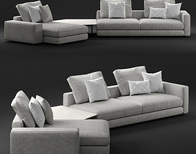 3D Flou myplace 5 seater sofa model