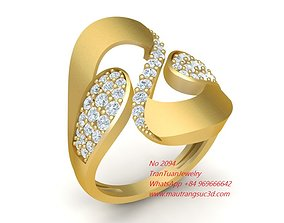 3D print model 2094 Diamond Ring