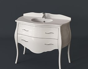 3D model Classical bathroom furniture - washbasin