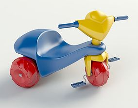 3D model Plastic tricycle