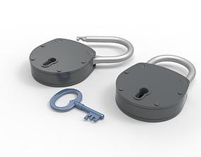 vault 3D padlock