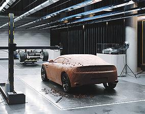 3D model Car design scene