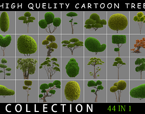 Cartoon Tree Collection 3D model