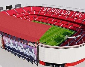 3D asset Ramon Sanchez Pizjuan Stadium - Sevilla