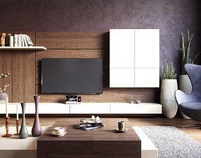 Elegance Livingroom 3D Model Vray Settings and PSD File