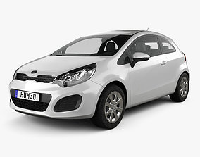 Kia Rio 3-door 2012 3D model