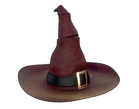 halloween witch hat 3D model