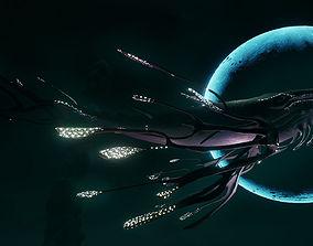 3D asset Space Whale