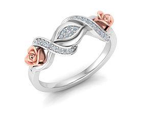 3D printable model Rose Ring9