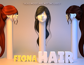 3D model Fiona Hair