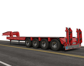 3D model Low Bed Semitrailer