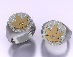 marijuana ring 3D printable model
