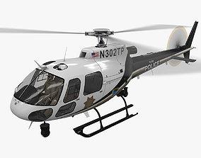 AS-350 Tulsa Police Animated 3D model