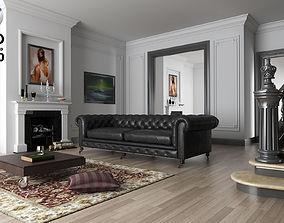 3D model living room C4D R18 vrayforc4d 3 40