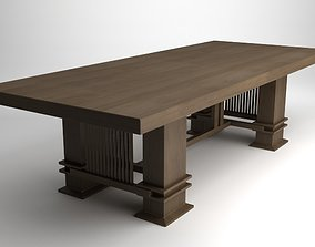 Frank Lloyd Wright Husser Table 3D