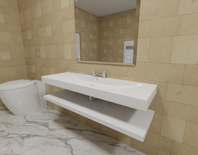 3D model Sink for a bathroom