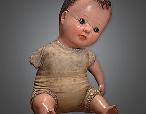 3D model ATT - Old Creepy Doll Antiques - PBR Game Ready