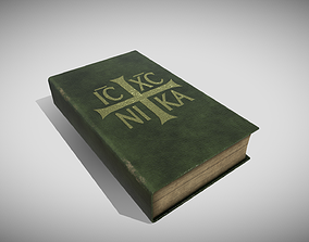 Generic Old Book 3D asset low-poly