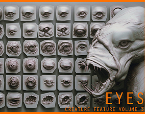 EYES - 28 Zbrush VDM creature eyes and 15 eyeballs 3D