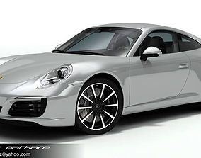 3D model Porsche 911 Carrera 2018
