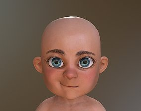 Baby Toon Rigged 3D asset
