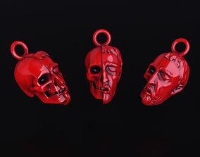 head skull pendant 3D printable model