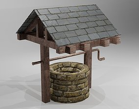 3D asset game-ready low poly water well
