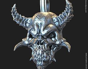 skeleton 3D print model Demon skull vol1 pendant