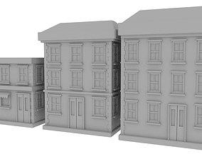 Vintage Old Buildings 3D model