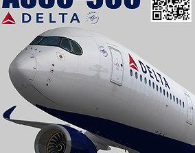 Airbus A350-900 XWB Delta airlnes 3D model