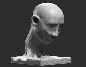 human head modern sculpture 3d print model 82 figure