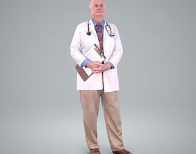 3D Male Old Doctor with Uniform WMan0200-HD2-O01P01-S