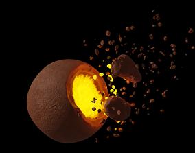 Destroyed planet 3D model