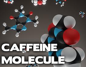 Caffeine molecule 3D printable model