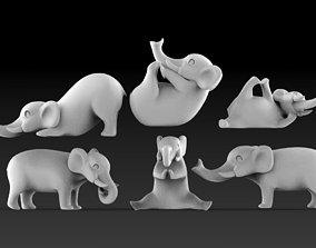 elephants poly 3D print model