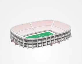 Topless Football Stadium 3D model