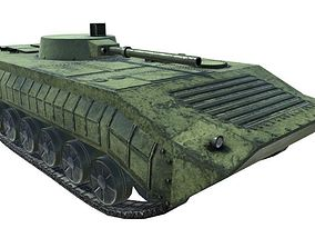 3D asset rigged Low Poly BMP1 IFV