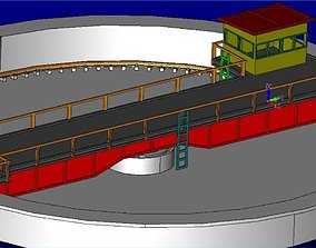 Railway turntable H0 3D print model