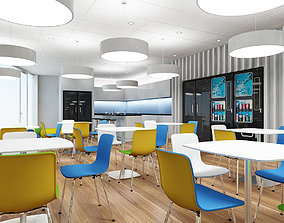 Office Tea Point Interior 2 3D model