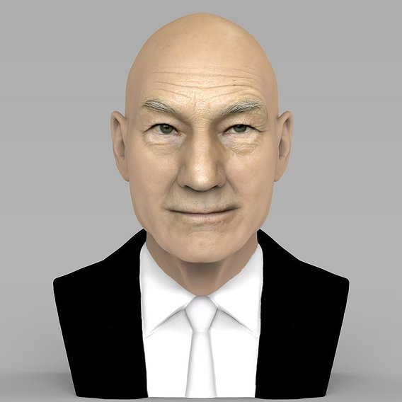 Professor X  bust for full color 3D printing