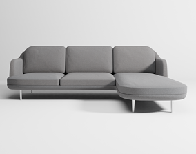 3D Lune sofa 3-seater with chaise longue