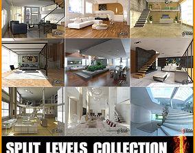 3D model Split Levels Collection 1