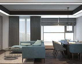 3D model 1Khanh Apartment Livingroom Design