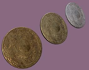 Medieval Lapel Pin Design Three 3D model PBR