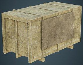3D asset Wooden Box 2B